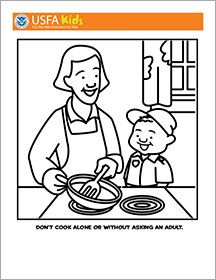 Nixa fire kids fire safety for Home safety coloring pages